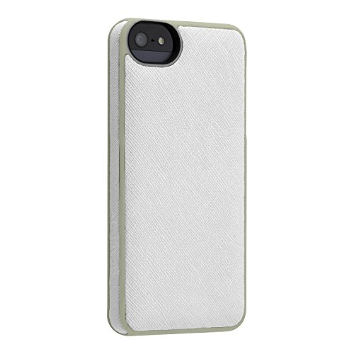 Image 2 of Adopted Leather Cell Phone Case Apple iPhone 5 5S SE Saffiano White
