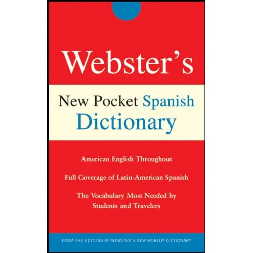 Webster's New Pocket Spanish Dictionary By Harrap Paperback Book