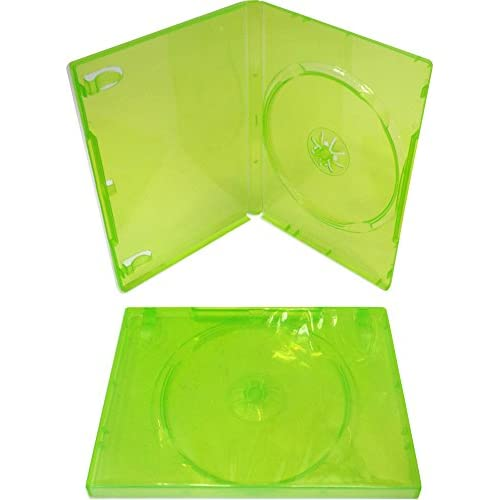 Image 2 of 10 Empty Standard Xbox 360 Translucent Green Replacement Games Boxes /