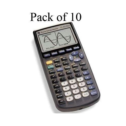 Lot Of 10 Texas Instruments Ti 83+ Plus 10 Pack Calculators