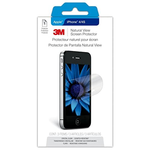 3M NVIPPHONE4/4S-1 Natural View Screen Protector For Apple iPhone 4 Or 4S Transp