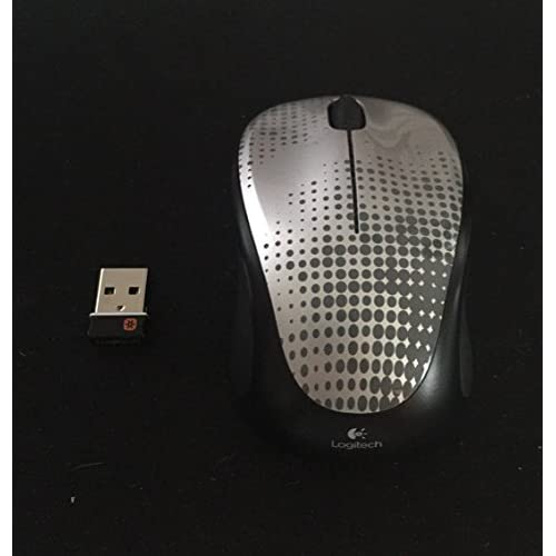Logitech Unifying Wireless Mouse M317 M325 Pewter With Unifying Receiver