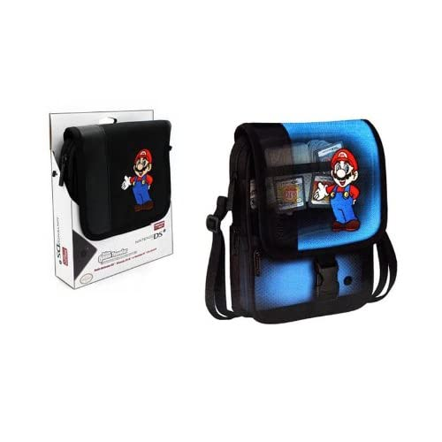Image 0 of Deluxe Mario Game Traveler For Nintendo I I XL And Lite For DS Black Carry/shoul
