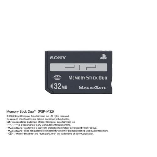 Image 0 of Sony OEM Memory Stick Duo PSP-M32 Up To 32MB PSP 1000