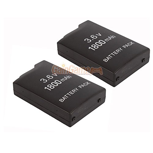 2X New 3.6V 1800MAH Rechargeable Battery For Sony PSP-110 PSP-1001 PSP 1000 US