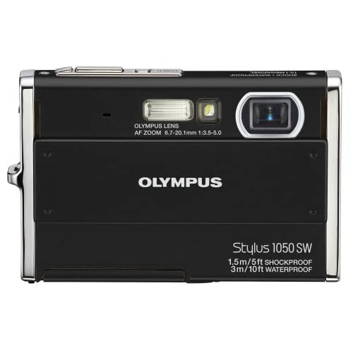 Olympus Stylus 1050SW 10.1MP Digital Camera With 3X Optical Zoom Black
