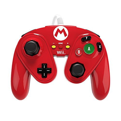 PDP Wired Fight Pad For Wii U Mario Multi-Color EVJ719 Gamepad