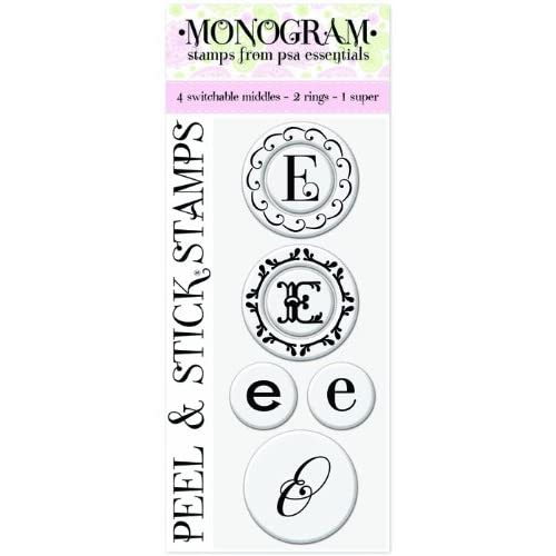 Peel & Stick Gigi E Monogram Stamps