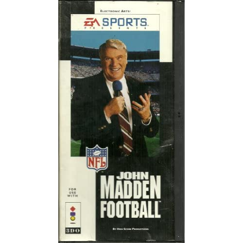 John Madden Football For 3DO Vintage With Manual and Case