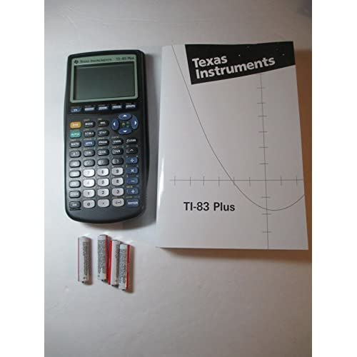 Texas Instruments TI-83 Plus Graphing Calculator And TI-83 User's