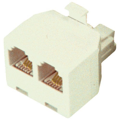 GE TL26104 Duplex Wall Jack Adapter Almond Telephone Power Charger