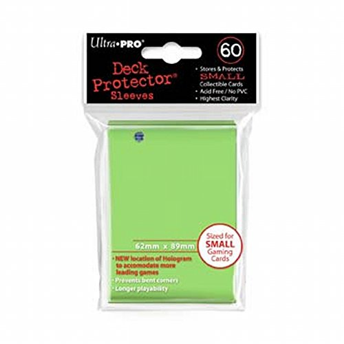 Image 0 of Ultra Pro Small Deck Protectors Lime Green 60CT TCG For YuGiOh Cards