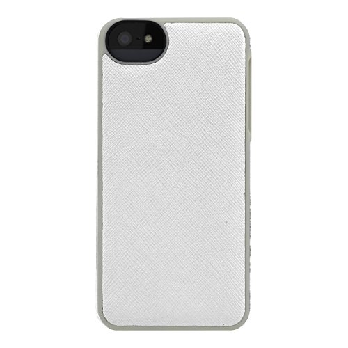 Adopted Leather Cell Phone Case Apple iPhone 5 5S SE Saffiano White