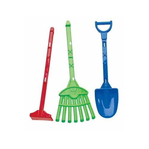 3 piece toy garden tools color for Gardening tools list 94