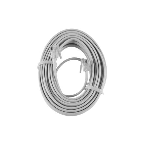 Image 0 of GE White Phone Cord 15 Foot 86192