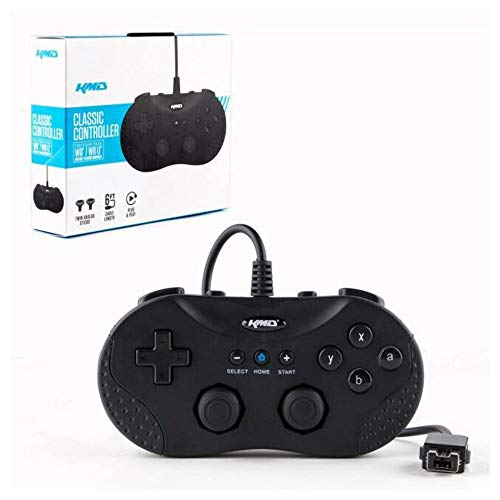 Image 0 of NES / SNES Classic Edition / U Classic Wired Pro Controller Black For Wii Gamepa