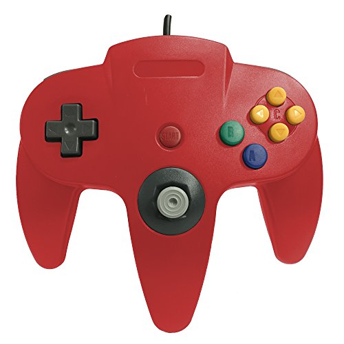 Image 0 of Classic Wired Controller Joystick For Nintendo 64 N64 Game System Red