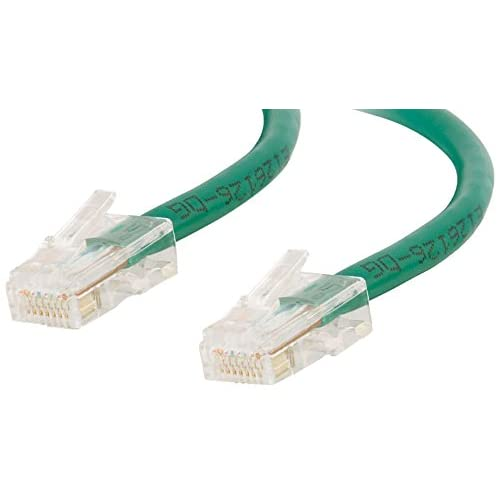24500 CAT5E Non-Booted Unshielded Utp Network Crossover Patch Cable Green 5 FEET