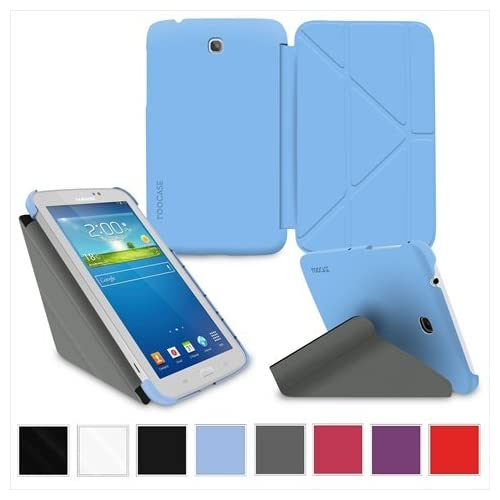 Image 0 of rooCASE RC-GALX7-LITE-OG-SS-BL Samsung Galaxy Tab 3 Lite 7.0 Origami 3D Case Mat