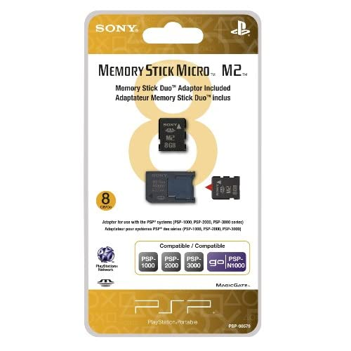 8GB Memory Stick Micro Media M2 Duo Adaptor Sony For PSP UMD Card Expansion