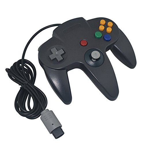 Image 0 of Generic Wired Game Controller For Nintendo Black For N64 Gamepad
