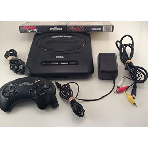 Sega Genesis Core System 2 Sonic Bundle Includes Sonic 1 And 2