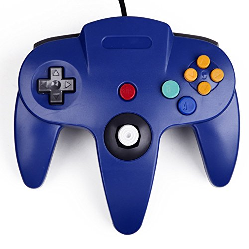 Image 0 of Generic Wired Game Controller For Nintendo Blue For N64