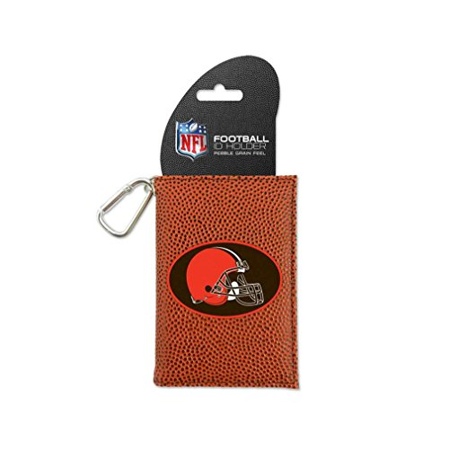 Image 0 of NFL Cleveland Browns Classic Football ID Holder One Size Brown