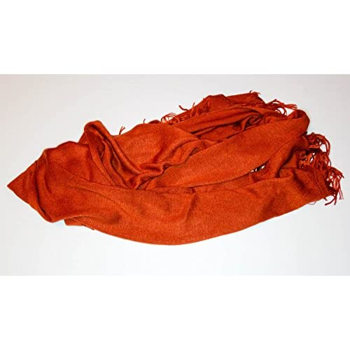 Rust Red Orange Pashmina Style Scarf