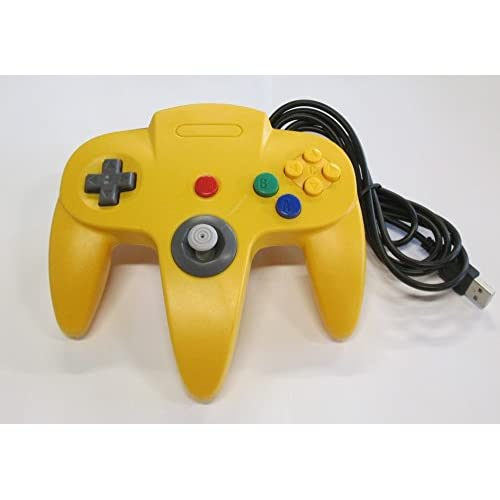 Image 0 of Nintendo N64 USB Controller Yellow By Mars Devices Gamepad
