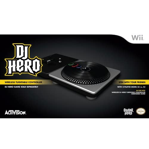 Activision DJ Hero Stand-Alone Turntable For Wii Multi-Color Turntables VUC903