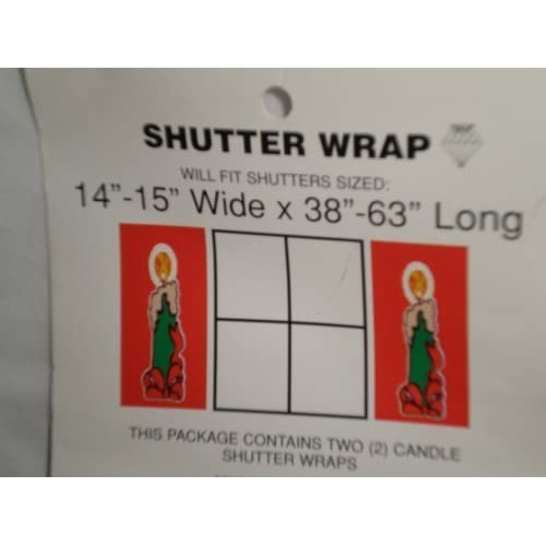 Candle Christmas Holiday Shutter Wrap Set Of 2