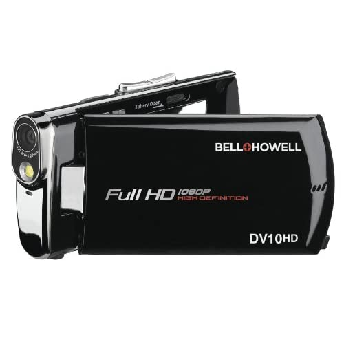 Bell+howell Slice Ultra-Thin 1080P Full HD Digital Video Camera DV10HD Black