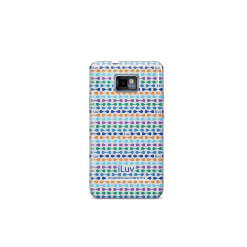iLuv ISS222USBLU Hard-Shell Case For Samsung Galaxy S II 1 Pack Blue