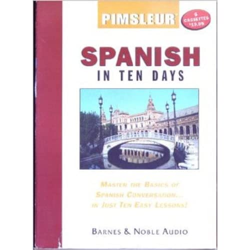 Image 0 of Pimsleur Spanish In Ten Days Pimsleur Audio 6 Cassettes Pimsleur Language Progra