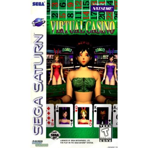 Virtual Casino For Sega Saturn Vintage