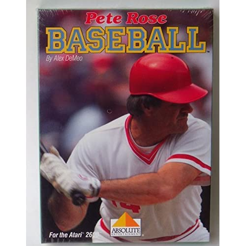 Pete Rose Baseball 2600 Absolute Entertainment For Atari Vintage