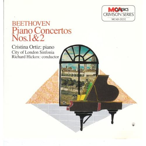 Image 0 of Beethoven Piano Concertos 1 & 2 By Hickox Conductor Ortiz Performer London Sinfo