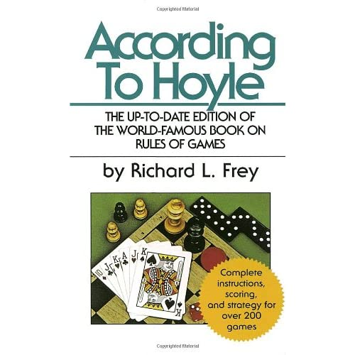 According To Hoyle By Frey Richard L Book Paperback