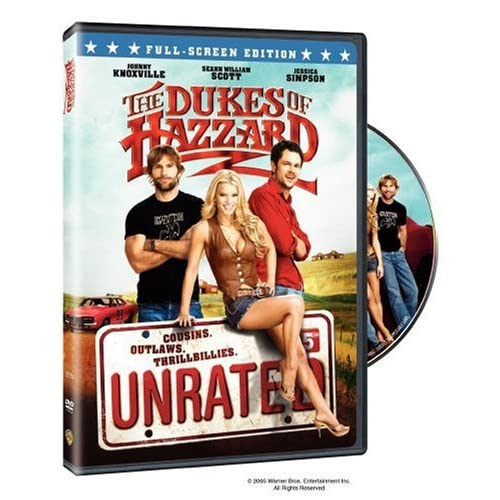 the dukes of hazzard unrated full screen edition on dvd. Black Bedroom Furniture Sets. Home Design Ideas