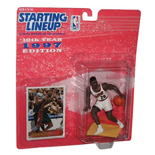 Image 0 of Gary Payton Of Seattle Supersonics Figure 1997 Starting Lineup NBA Collectible S