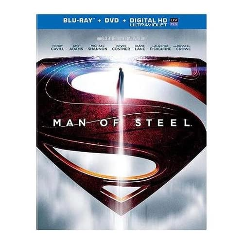 Man Of Steel Blu-Ray On Blu-Ray With Henry Cavill