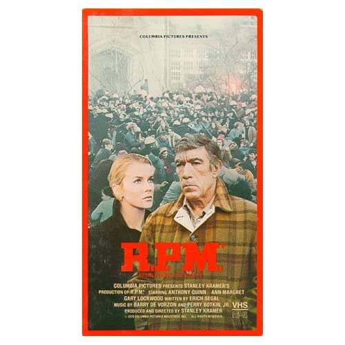 Image 0 of RPM Revolutions Per Minute On VHS With Anthony Quinn