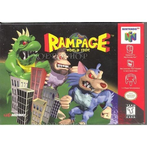 Rampage World Tour For N64 Nintendo Action