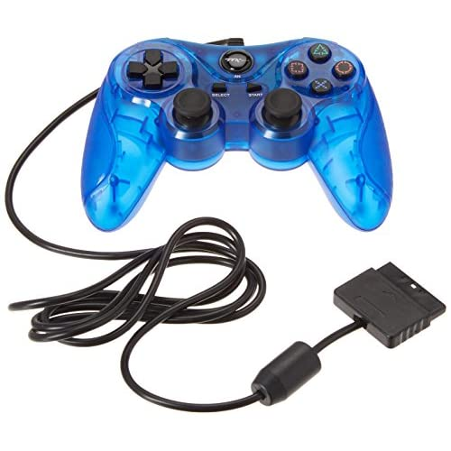 Image 0 of TTX PS2 Wired Controller Clear Blue For PlayStation 2 Gamepad HQE535