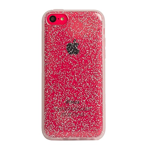 Agent 18 iPhone 5C Case Shockslim Glitter Silver Cover