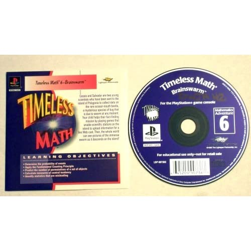 Image 0 of Timeless Math 6-BRAINSWARM Mathematics Adventure 6 For PlayStation 1 PS1