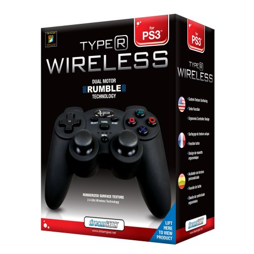 Image 0 of Wireless Controller With Rumble For PlayStation 3 PS3 Black DGPS3-1349