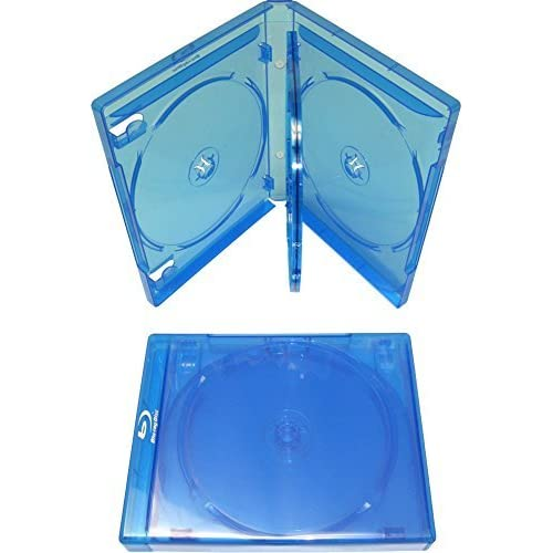 Image 1 of Quad Replacement Case 21MM Holds 4 Discs Blue 1 Pack On Blu-Ray