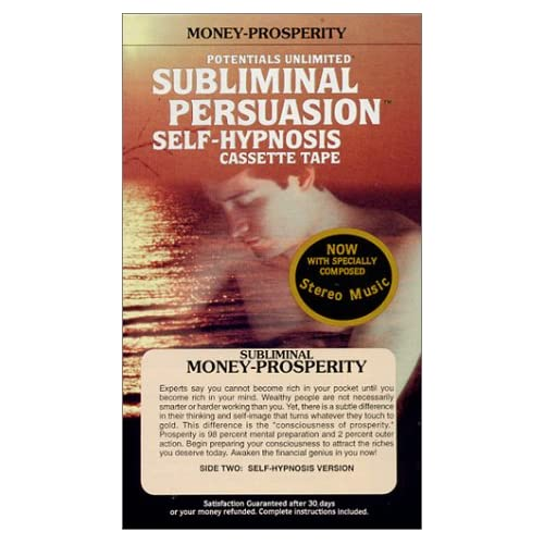 Image 0 of Money-Prosperity: A Subliminal Persuasion Self Hypnosis Tape Success Series By B